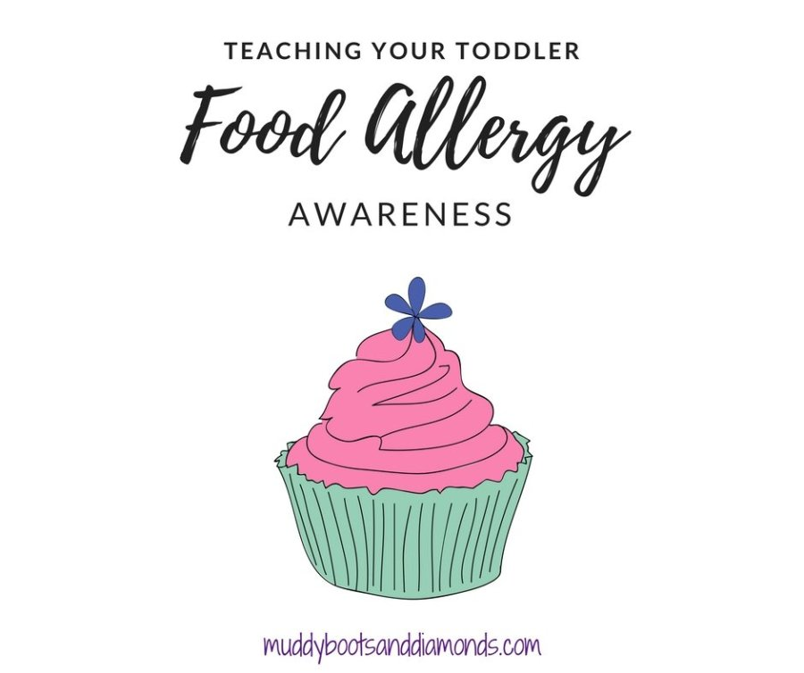 1 in 13 children have a food allergy, which means teaching children about how to be a good friend or classmate to those with food allergies is important | How To Teach Your Toddler Allergy Awareness via muddybootsanddiamonds.com