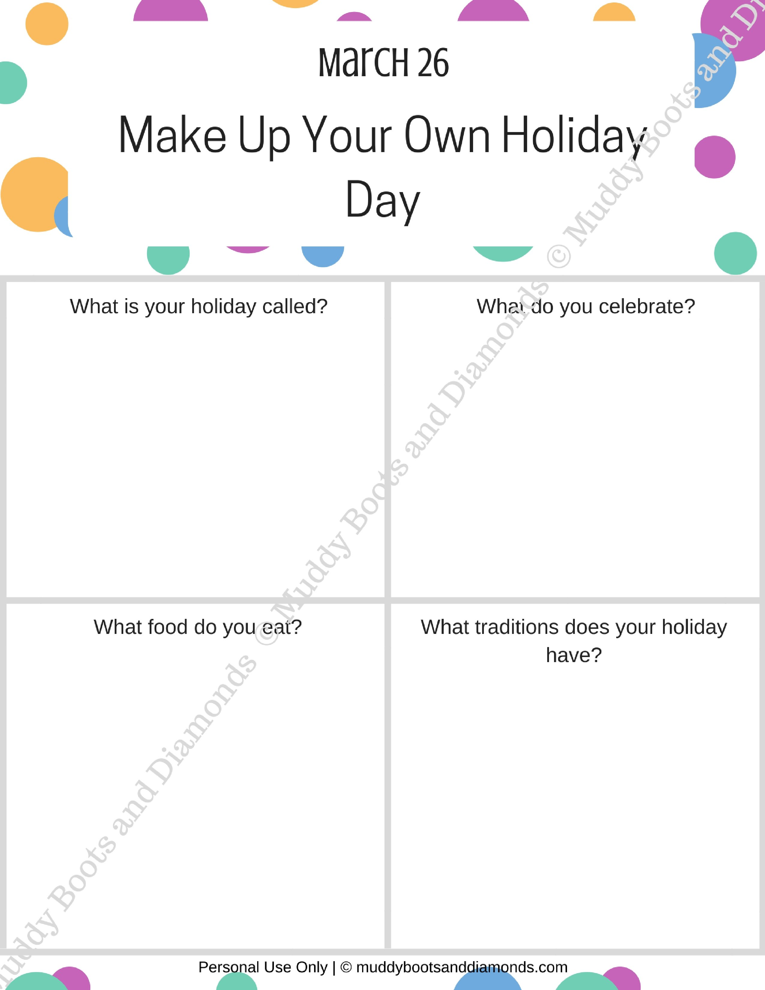 Worksheets Make Your Own Worksheet make up your own holiday day muddy boots and diamonds worksheet watermarked via muddybootsanddiamonds com
