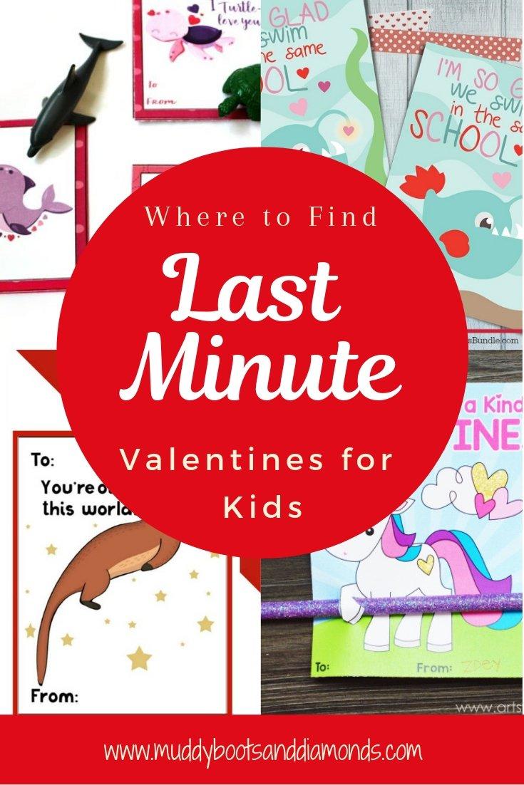 Last Minute Valentines for Kids Roundup via muddybootsanddiamonds.com
