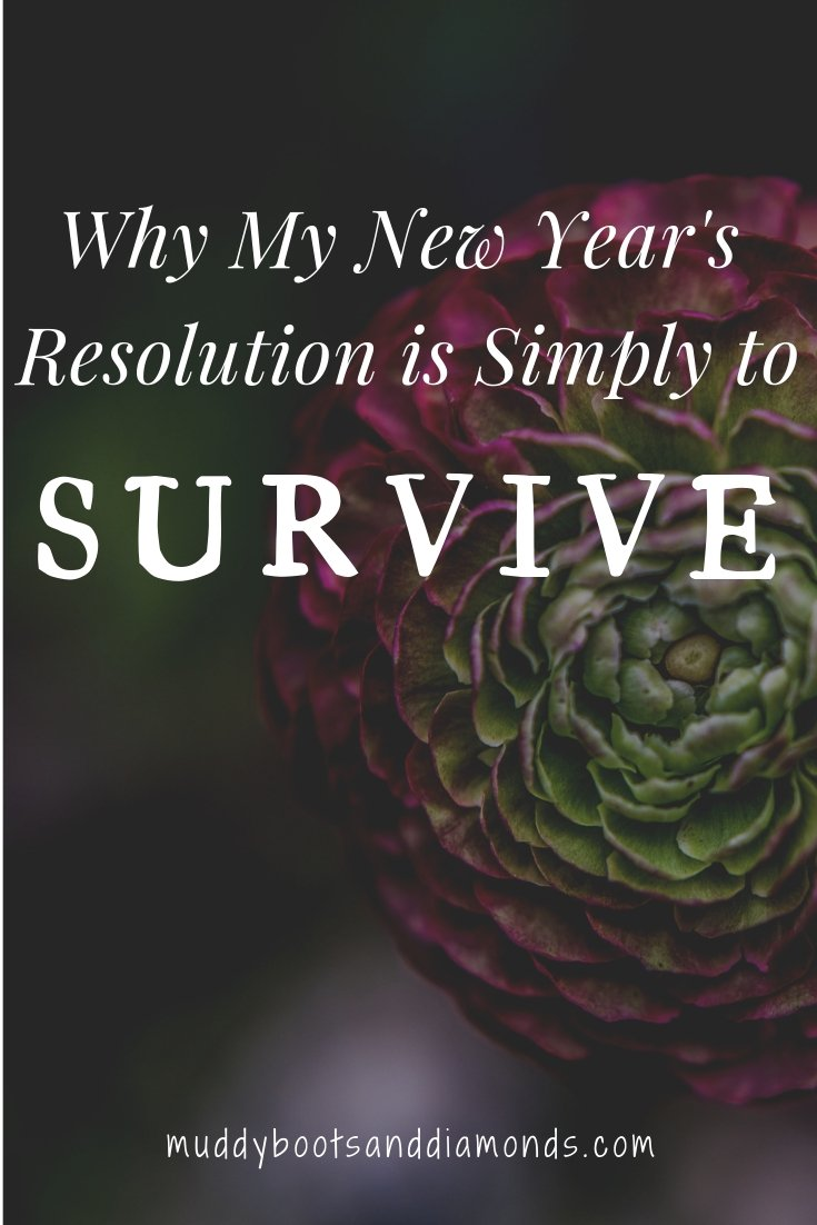 Why My New Years Resolution is Simply To Survive via muddybootsanddiamonds