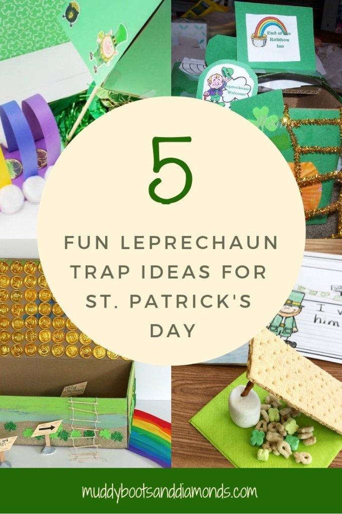 How to Catch a Leprechaun 5 Fun Trap Ideas to Catch a Leprechaun on St Patrick's Day via muddybootsanddiamonds.com