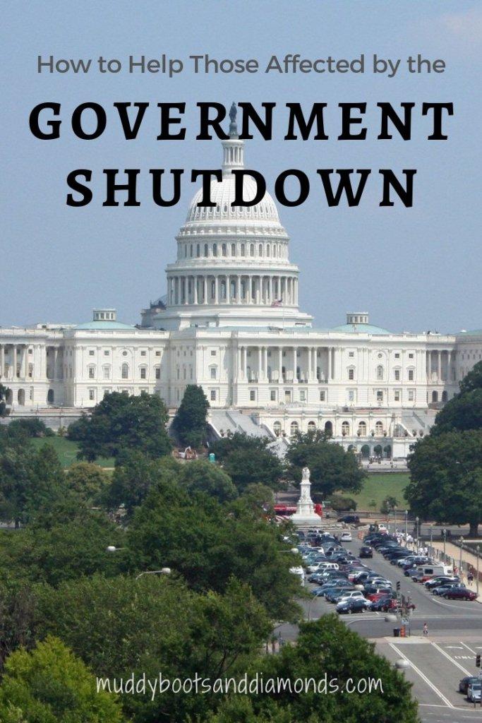 How to Help Those Affected by the Government Shutdown via muddybootsanddiamonds.com