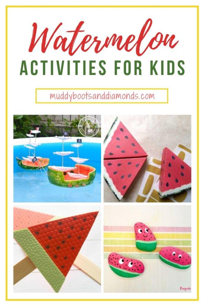 Pinterest Image Watermelon Activities for Kids via muddybootsanddiamonds.com