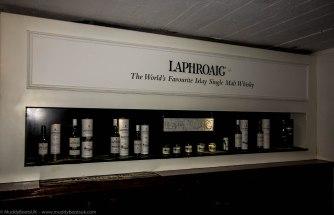 The Laphroaig shop interior