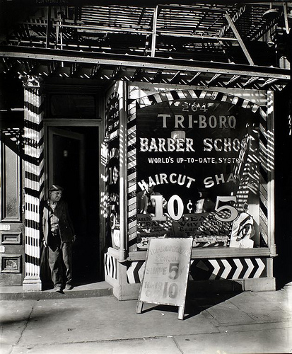 Photo of an old barbershop