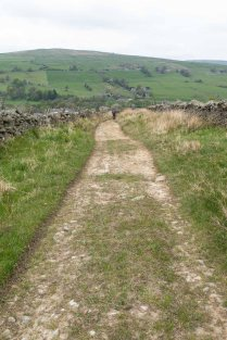 Follow this track downhill all the way back to St John's Chapel