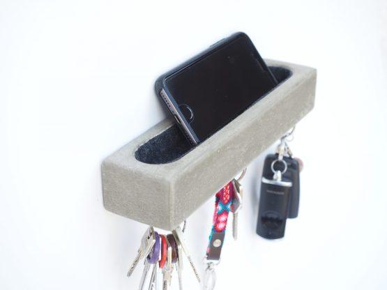 Schlüsselbrett aus Beton