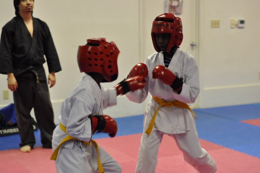 Junior Students Sparring