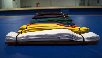 Karate Belts Laid Out