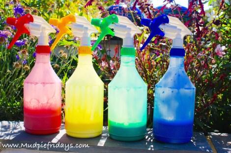 Spray Painting for preschoolers