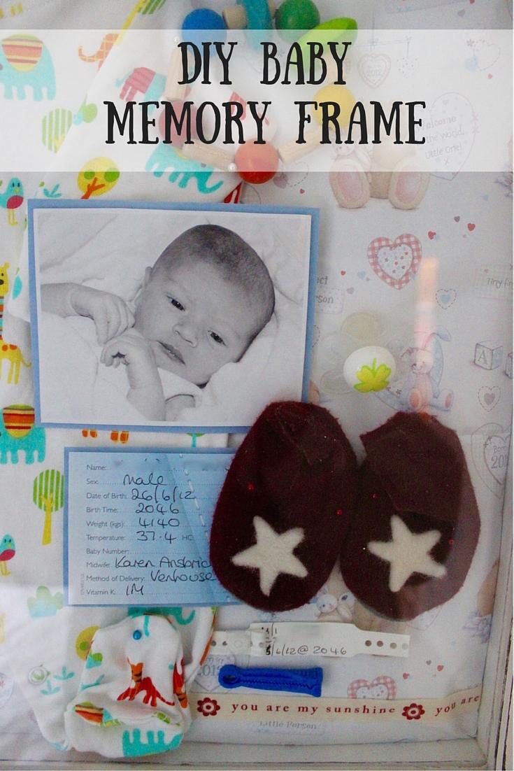 DIY Baby Memory Frame