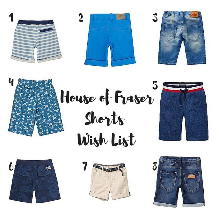 House of FraserShorts Wish List