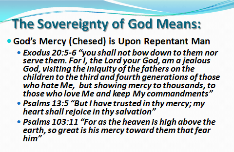 Gods Mercy is upon repentant man