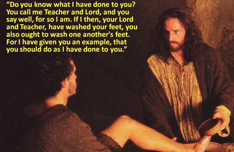 Jesus performed menial tasks as a true slave