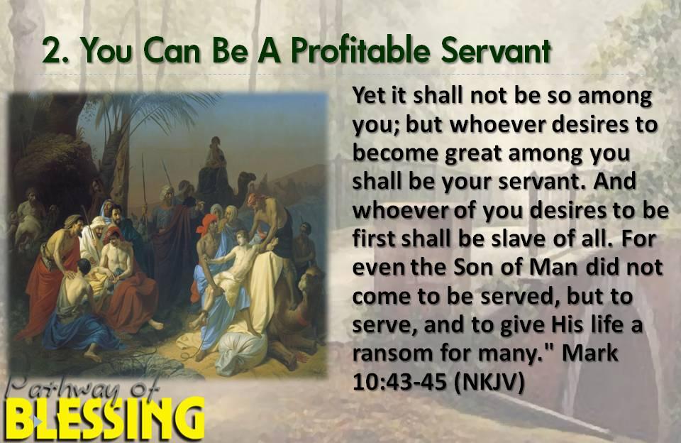A Profitable Servant
