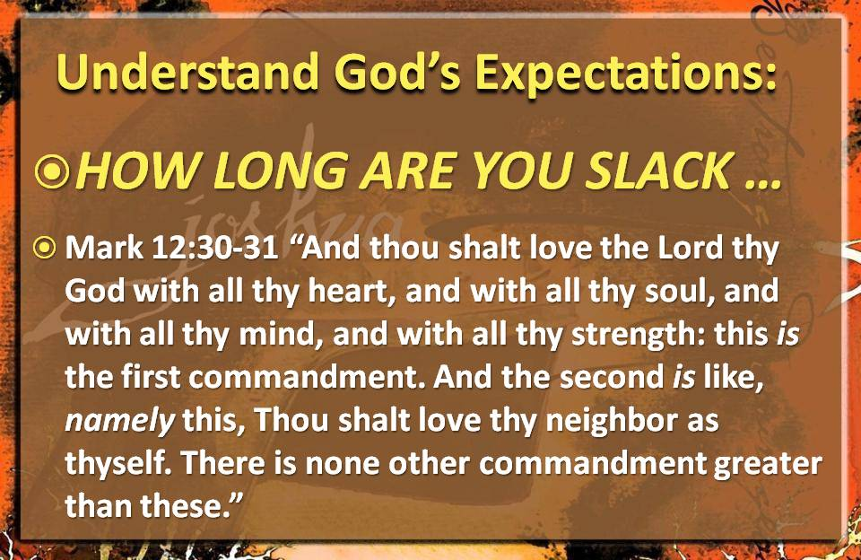 Gods Expectations