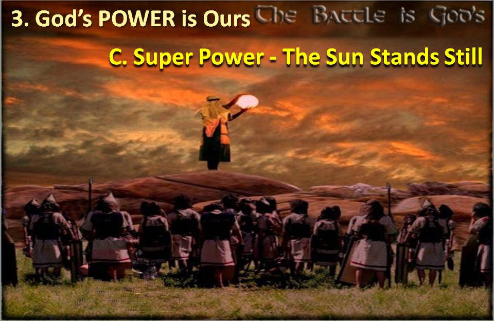 Gods Super Power Sun Stands Still