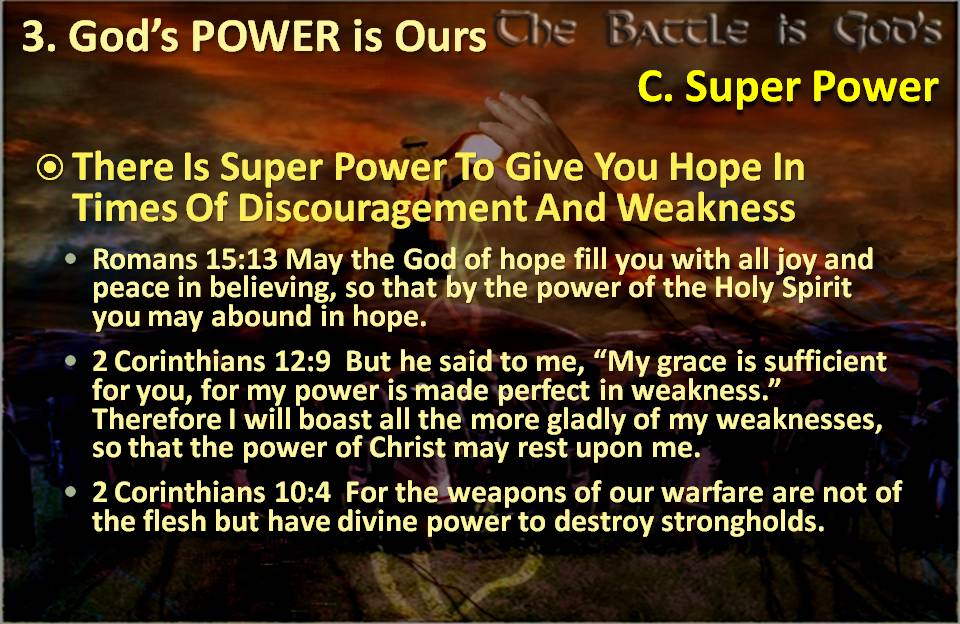 Power for Hope in Times of Discouragement