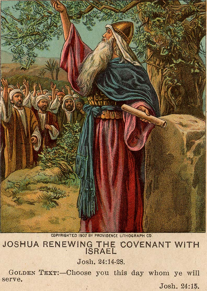 Joshua renews covenant