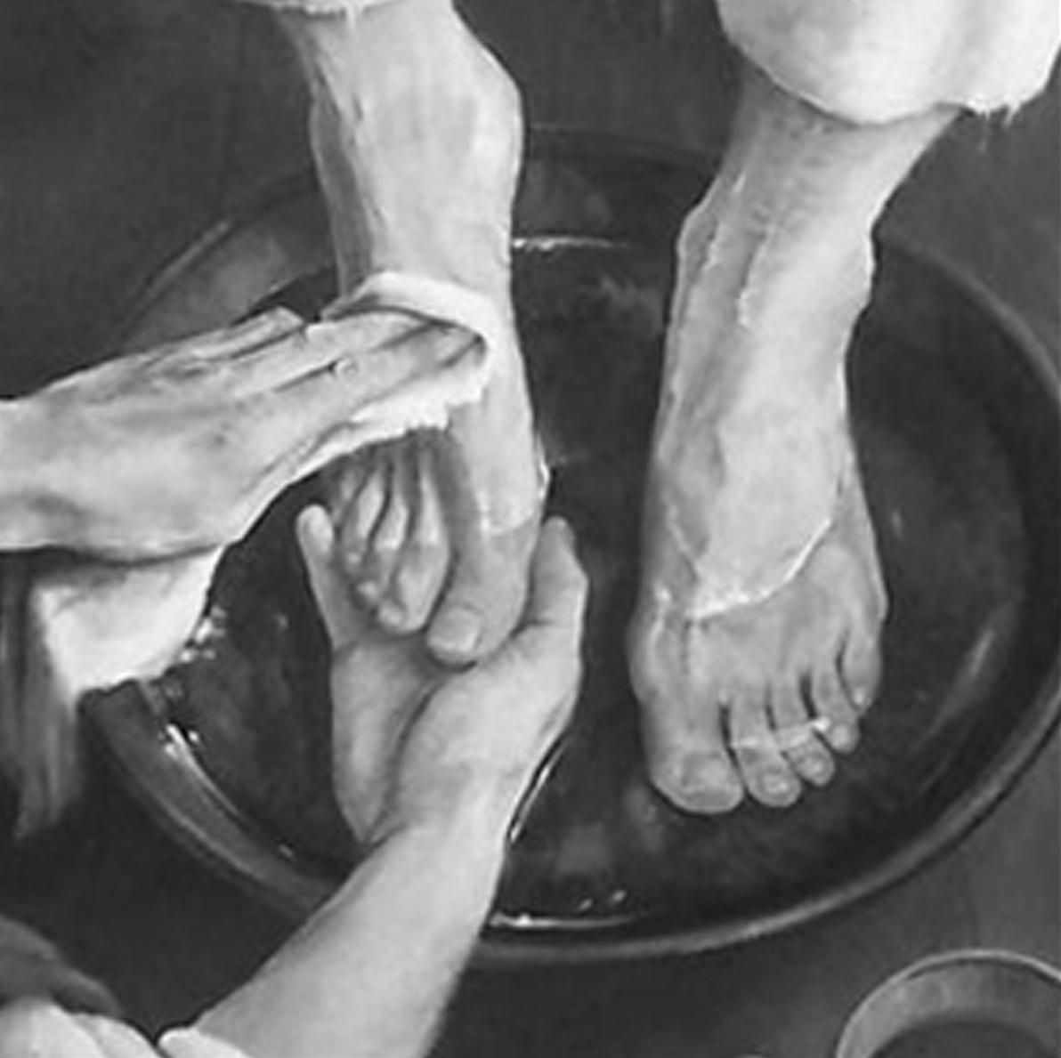 Washing Feet Sharing In Jesus