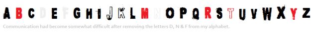 Alphabet -DNF