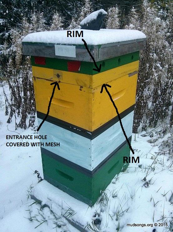 An eke or spacer rim provide room for emergency sugar feeding.
