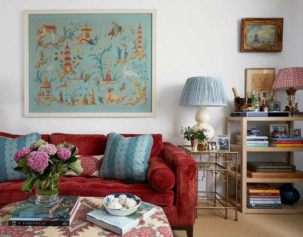 Este estilo consiste en mezclar muebles y complementos con diferentes texturas, patrones y colores.