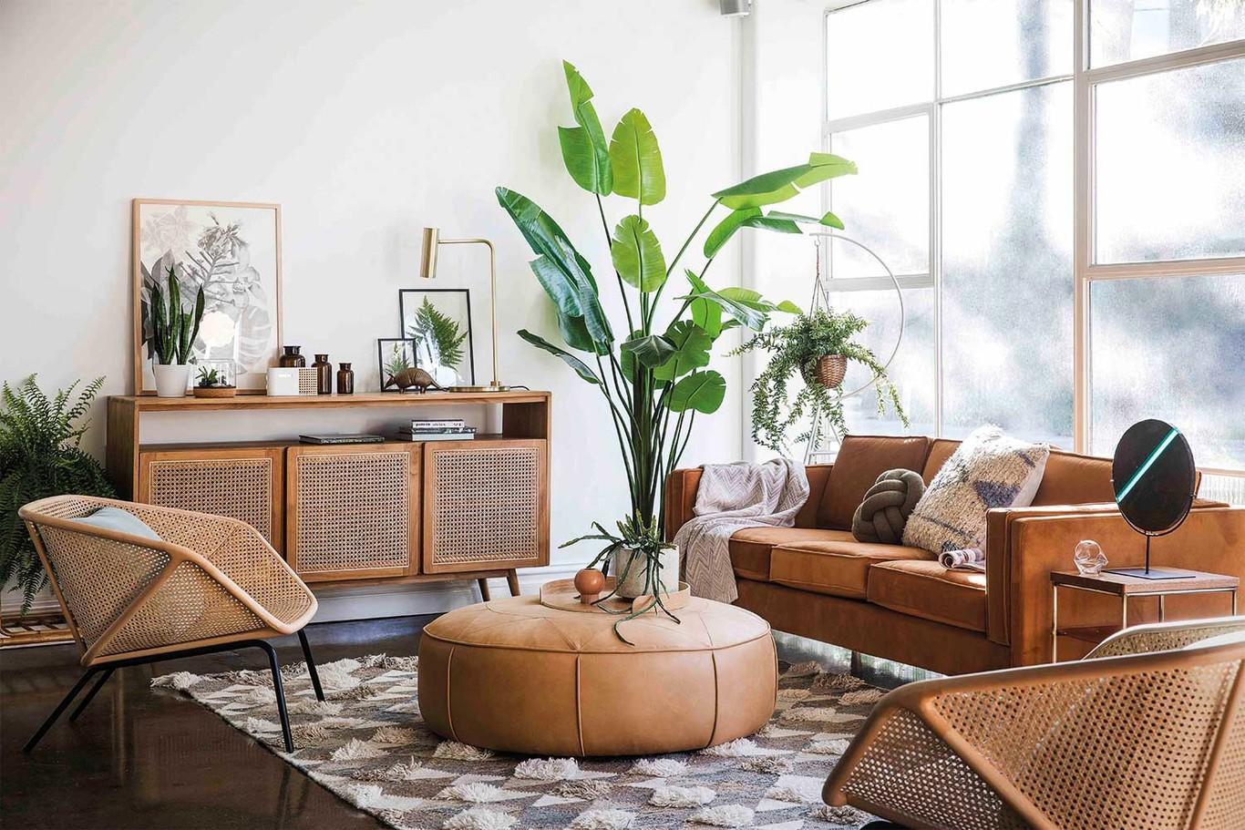 La tendencia a lo natural es lo que se lleva este otoño y la puedes conseguir con muebles de ratán.