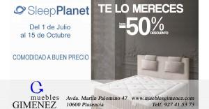Oferta colchon muebles gimenez plasencia sleep planet