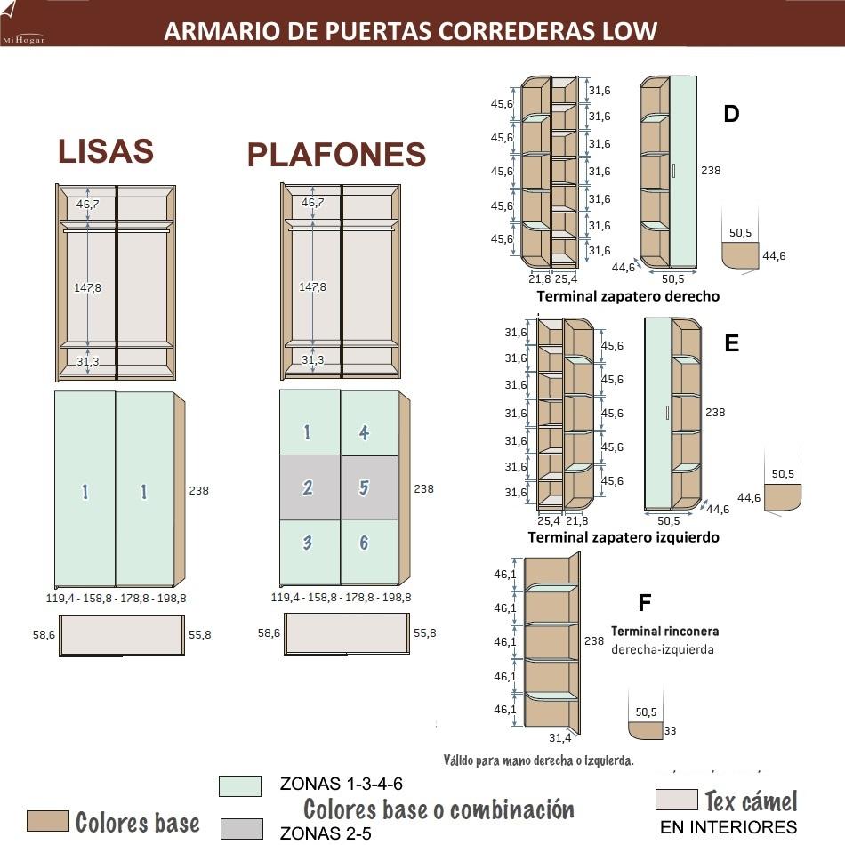MEDIDAS ARMARIO PUERTAS CORREDERAS LOW