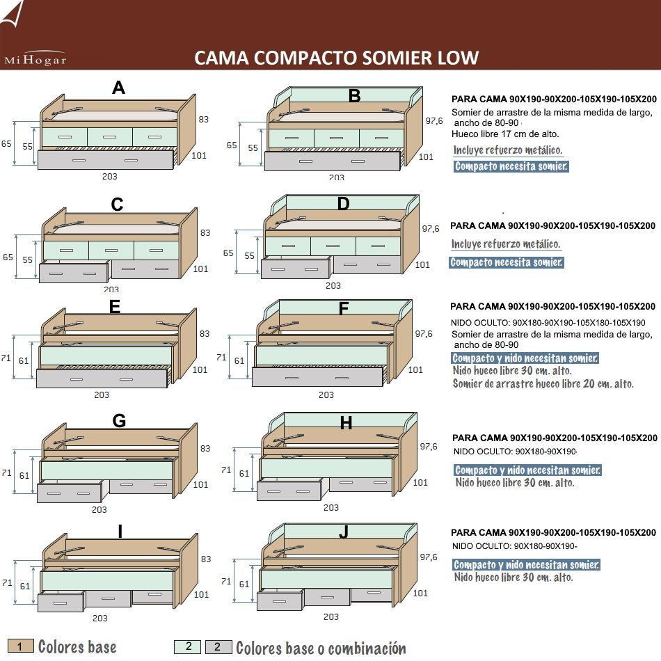 MEDIDAS-TECNICO-CAMA-COMPACTO-SOMIER-LOW