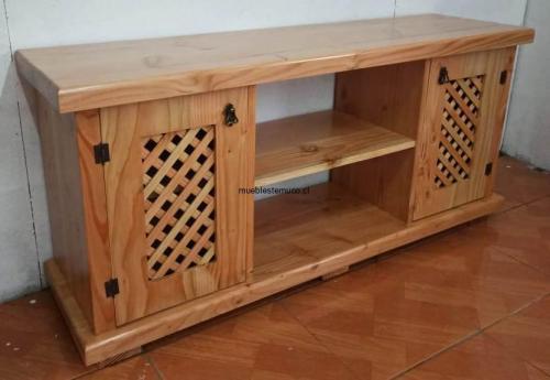 rack hecho con madera