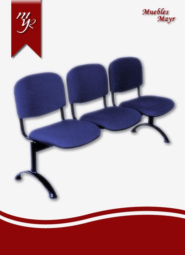 silla de espera tipo tandem 3 puestos isosceles tapizado, venta de sillas en bogota muebles mayr