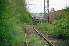 Der Gleisanschluß mit Gleissperre und Anschlußweiche