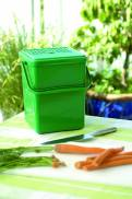 Bio Mülleimer 8 Liter grün mit Henkel