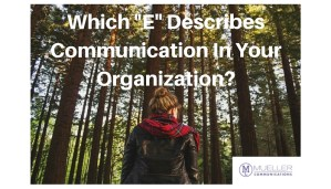"""Which """"E"""" Describes Communication In Your Organization?"""