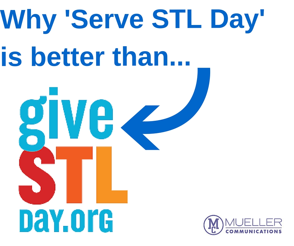 Why 'Serve STL Day' is better than 'Give STL Day'
