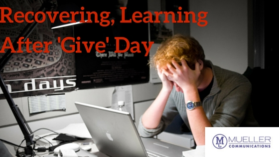Recovering, Learning After 'Give' Day