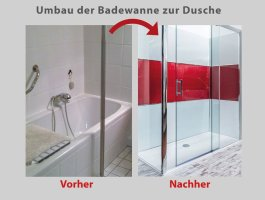 Wanne zur Dusche – in nur 8 Stunden – BADbarrierefrei München