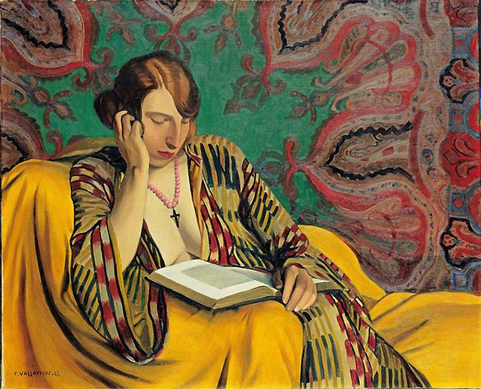 Felix Vallotton: La Liseuse, 1922.