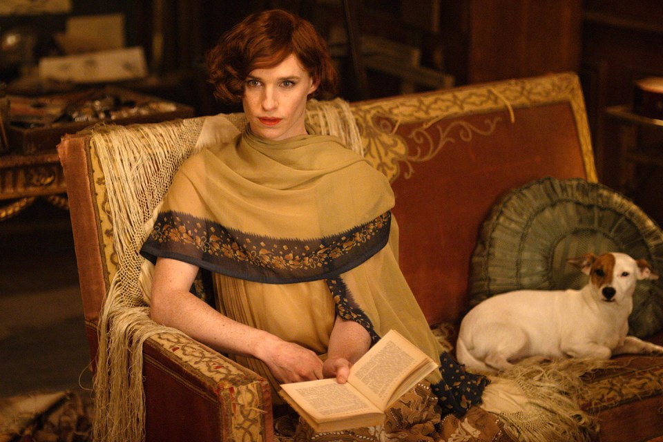 "Eddie Redmayne kao Lili Elbe u ""The Danish Girl"""