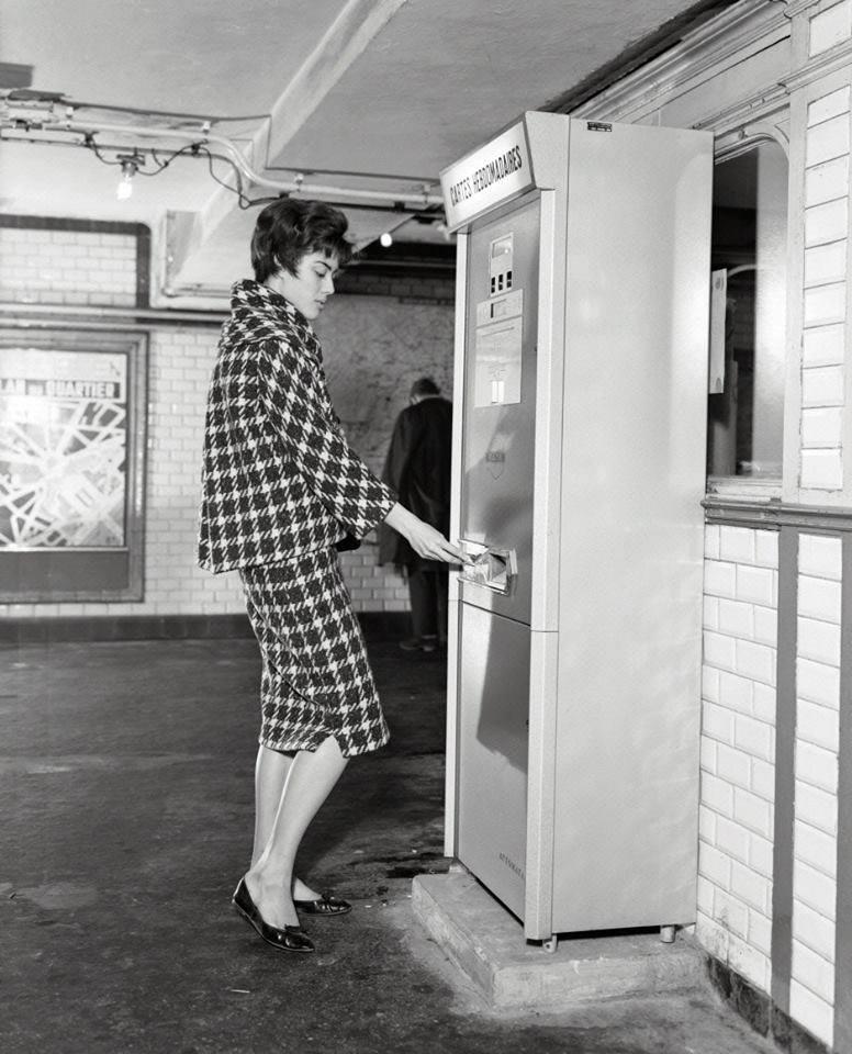 Fotografirano u pariškom metrou, 1961, copyright RATP