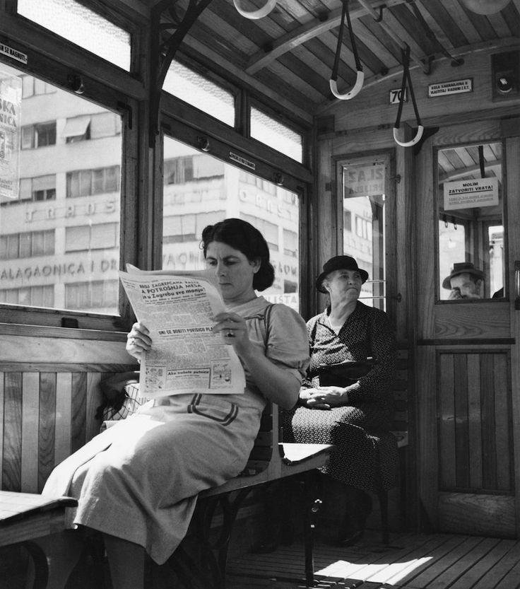 """Tošo Dabac, """"U tramvaju"""", 1936."""