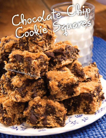 Chocolate Chip Cookie Squares by Sweet Treats and Healthy Eats