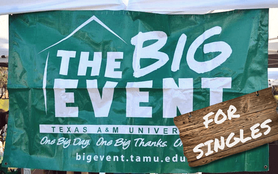 Big Event Forms Singles Group for Uninvolved Students