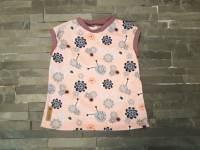 shirt kurzarm blumen rosa rundkragen