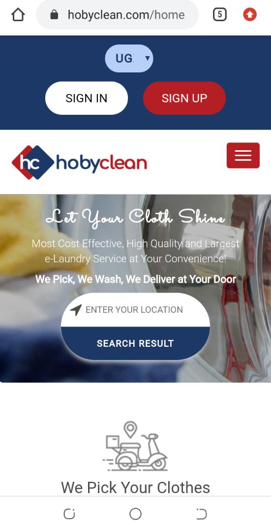 Introducing Hoby Clean: a revolutionary online on-demand Laundry service. 8 MUGIBSON WRITES
