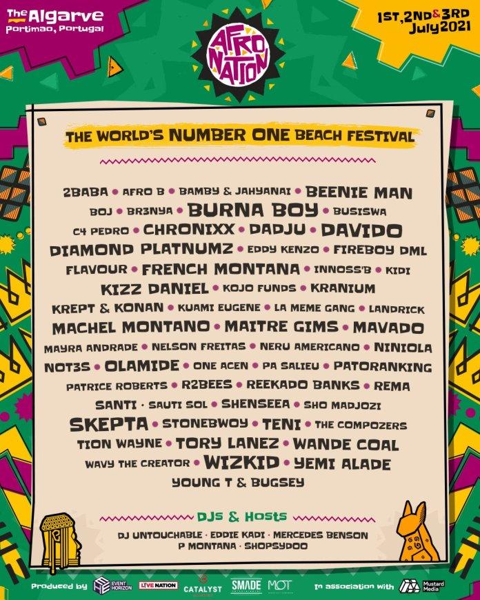 Afro Nation Festival postponed to 2021. Fireboy DML, Eddy Kenzo, Yemi Alade, Chronixx, Shenseea and more to headline. 6 MUGIBSON