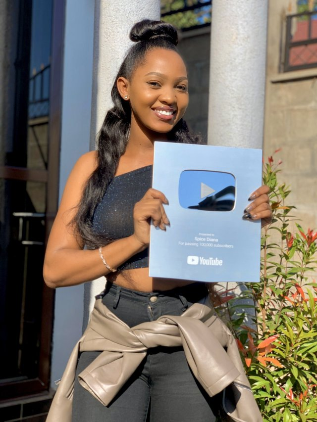 Spice Diana Receives YouTube Silver Award After Garnering 100K Subscribers. 3 MUGIBSON WRITES
