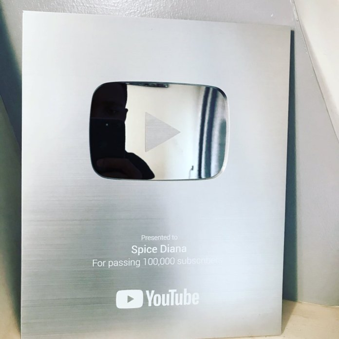 Spice Diana Receives YouTube Silver Award After Garnering 100K Subscribers. 4 MUGIBSON WRITES